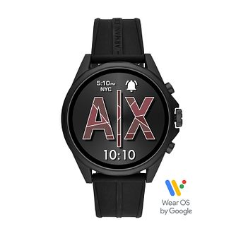 Armani Exchange Connect Men's Black Strap Smartwatch - Product number 5326737