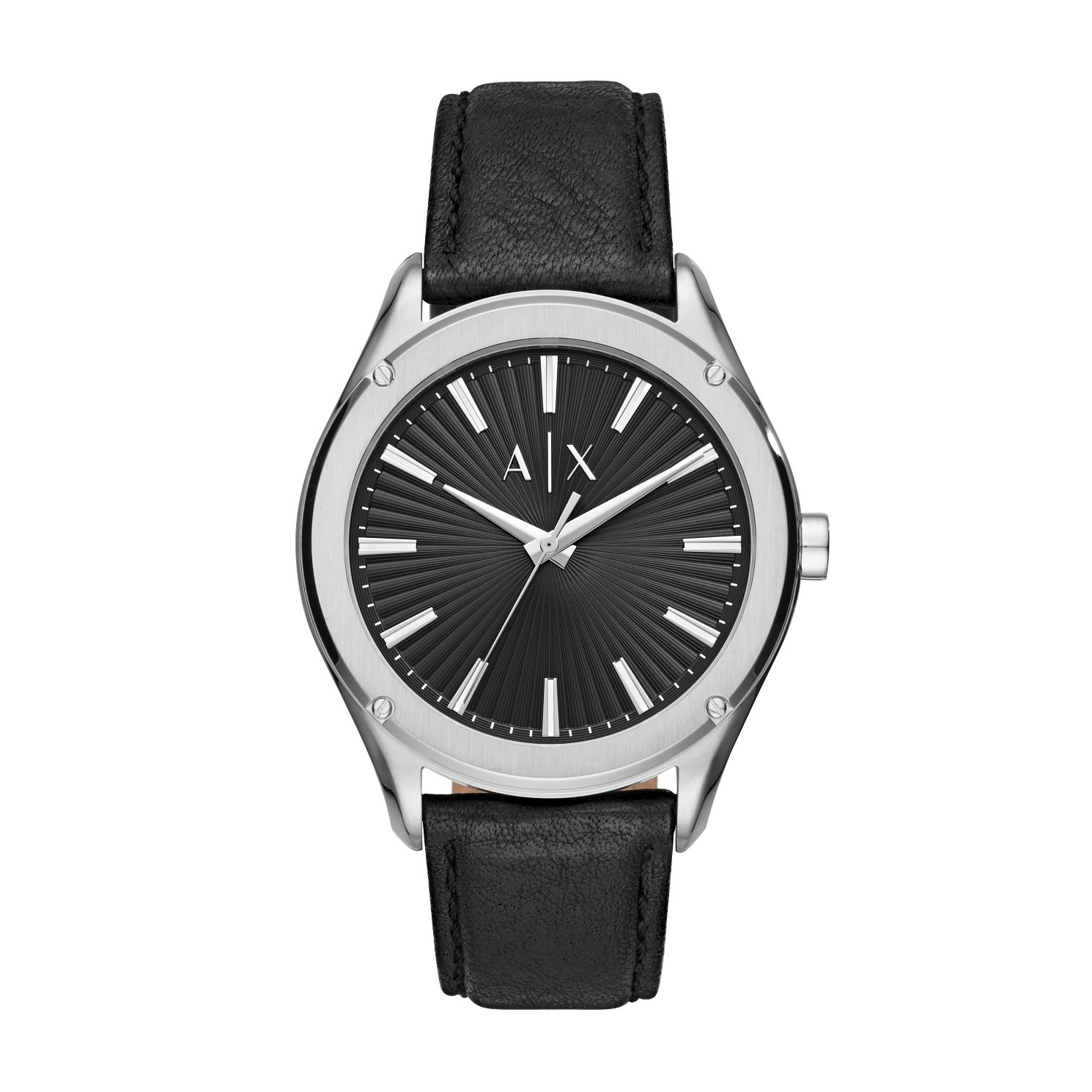 Armani Exchange Men's Black Leather Strap Watch - Product number 5326818
