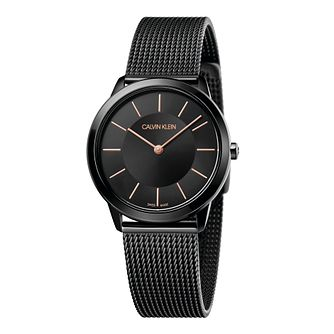 Calvin Klein Minimal Ladies' Black Mesh Bracelet Watch - Product number 5331609