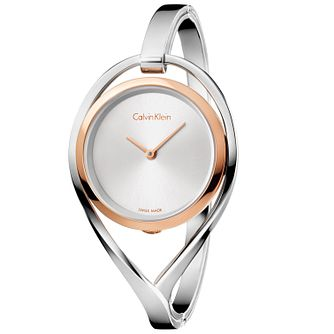 Calvin Klein Light Ladies' 2 Colour Steel Bracelet Watch - Product number 5331749