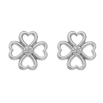 Hot Diamonds Silver Lucky Hearts Stud Earrings - Product number 5349044