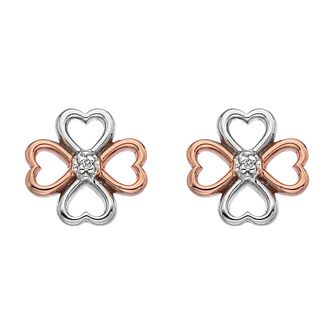 Hot Diamonds Stainless Steel Rose Gold Tone Stud Earrings - Product number 5349060