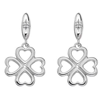Hot Diamonds Sterling Silver Lucky Heart Drop Earrings - Product number 5349141