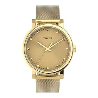 Timex Originals Ladies' Gold Tone Mesh Bracelet Watch - Product number 5361605