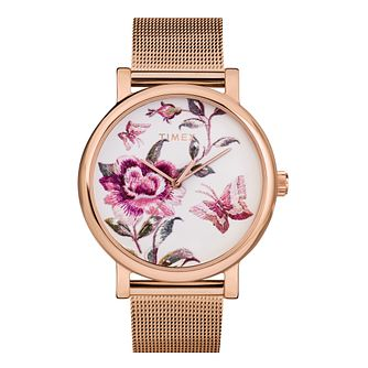 Timex Full Bloom Ladies' Rose Gold Tone Mesh Bracelet Watch - Product number 5361648