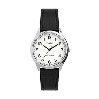 Timex Easy Reader Gen 1 Ladies' Black Leather Strap Watch - Product number 5361656