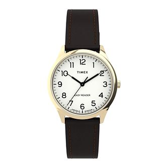Timex Easy Reader Gen 1 Ladies' Brown Leather Strap Watch - Product number 5361664