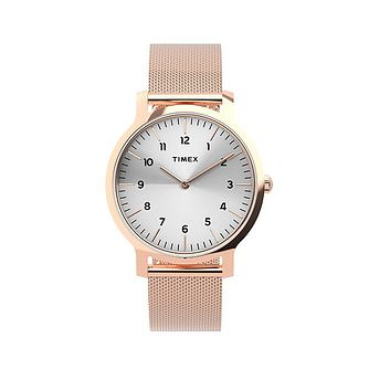 Timex Norway Ladies' Rose Gold Tone Mesh Bracelet Watch - Product number 5361672