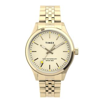 Timex Waterbury Ladies' Yellow Gold Tone Bracelet Watch - Product number 5361680