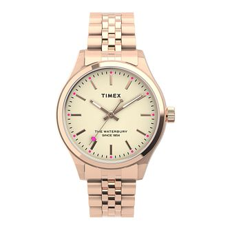 Timex Waterbury Ladies' Rose Gold Tone Bracelet Watch - Product number 5361699