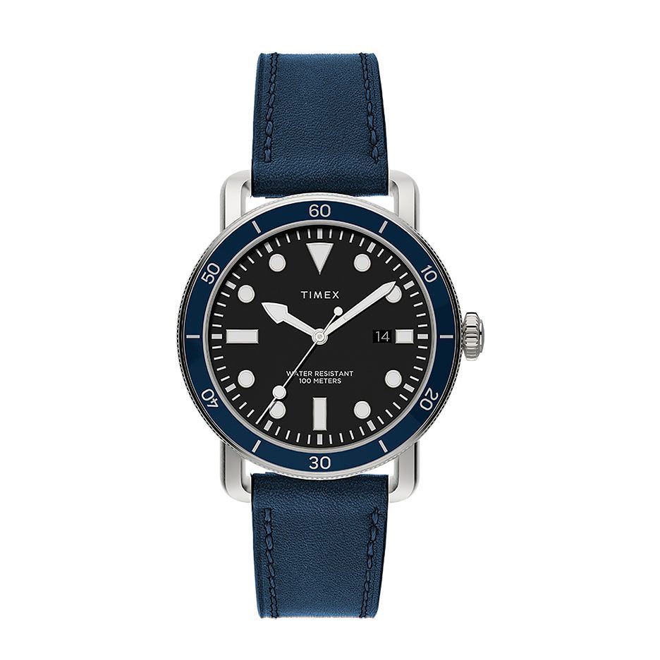 Timex Port Men's Blue Leather Strap Watch - Product number 5361737