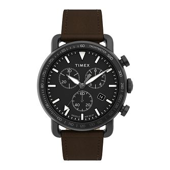 Timex Port Men's Brown Leather Strap Watch - Product number 5361745
