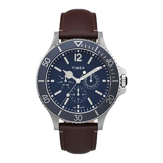 Timex Harborside Men's Brown Leather Strap Watch - Product number 5361788