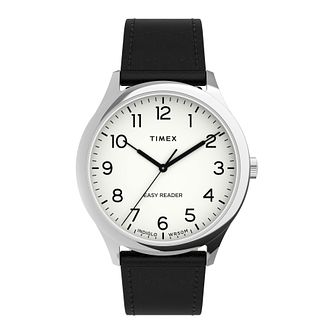 Timex Easy Reader Gen 1 Men's Black Leather Strap Watch - Product number 5361974