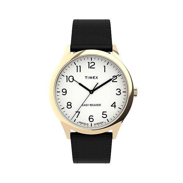 Timex Easy Reader Gen 1 Men's Black Leather Strap Watch - Product number 5363489
