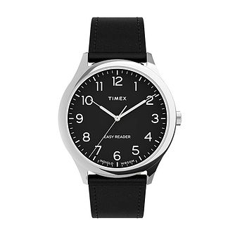 Timex Easy Reader Gen 1 Men's Black Leather Strap Watch - Product number 5363497