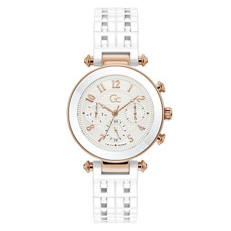 Gc Ladies' White Ceramic Bracelet Watch - Product number 5363527