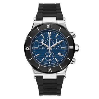 Gc Chronograph Men's Black Silicone Strap Watch - Product number 5363543