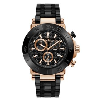 Gc Men's Black Stainless Steel Bracelet Watch - Product number 5363594