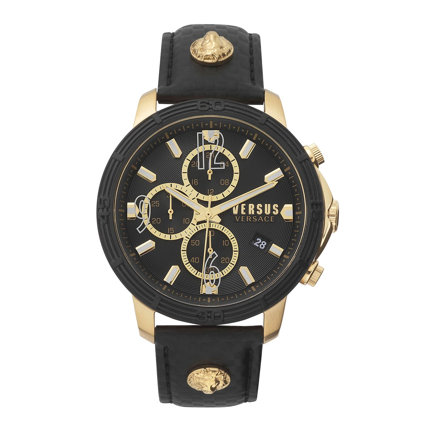 Versus Versace Bicocca Men's Black Leather Strap Watch - Product number 5363632