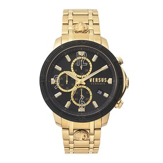 Versus Versace Bicocca Men's Gold Tone Bracelet Watch - Product number 5363640