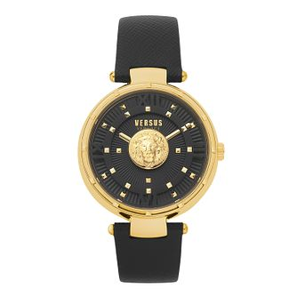Versus Versace Moscova Ladies' Black Leather Strap Watch - Product number 5363659