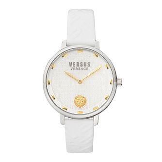 Versus Versace La Villette Ladies' White Leather Strap Watch - Product number 5363691