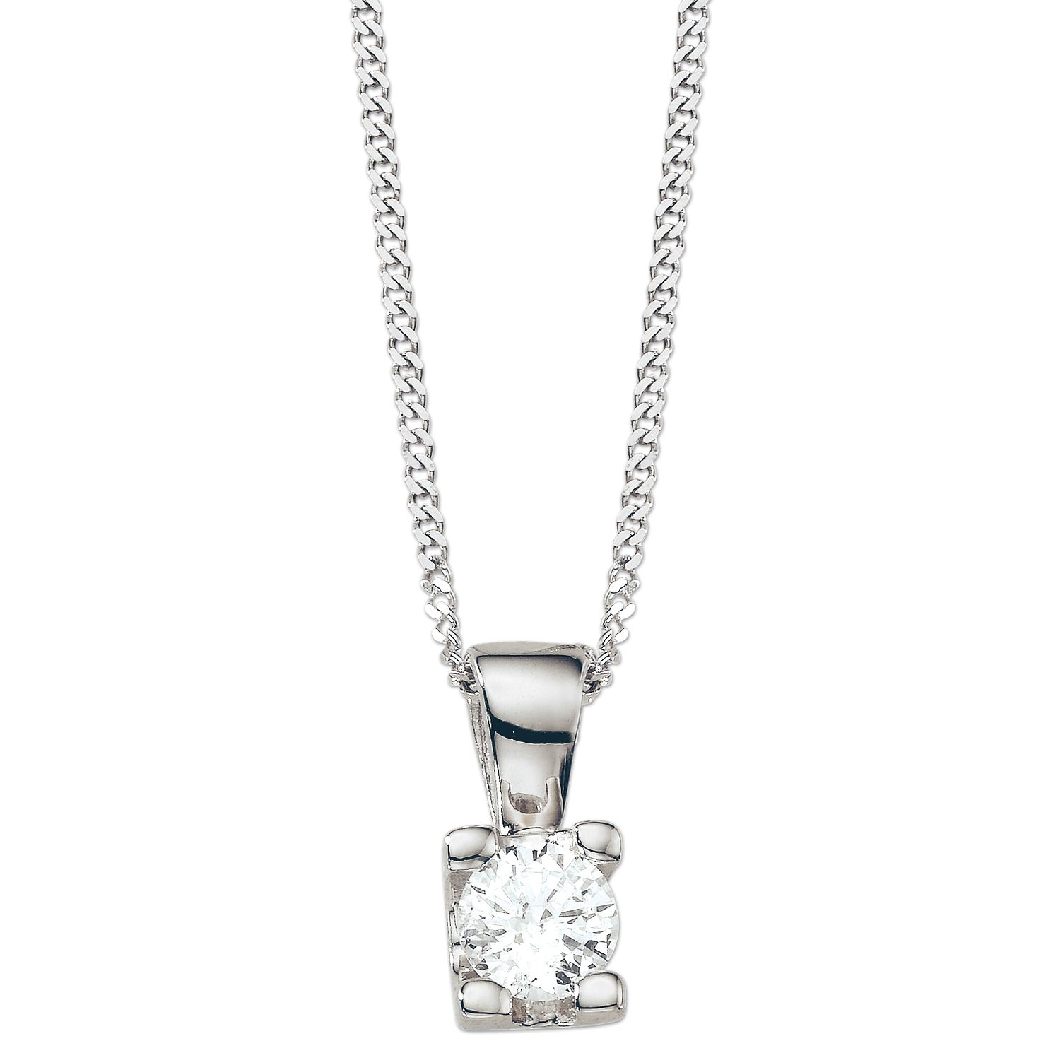 18ct White Gold 1/4 Carat Forever Diamond Pendant - Product number 5365856