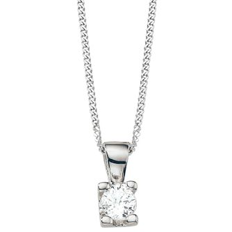 The Forever Diamond 18ct White Gold 0.25ct Pendant - Product number 5365856
