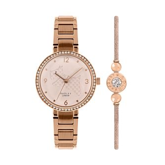 Radley Ladies' Rose Gold Tone Watch & Bracelet Gift Set - Product number 5368774