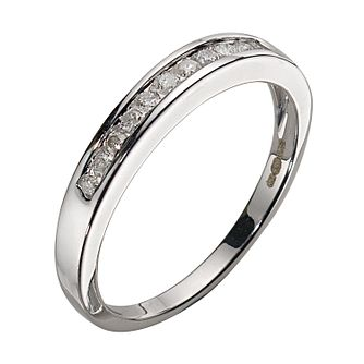 9ct White Gold 0.15ct Diamond 11-stone Eternity Ring - Product number 5372828