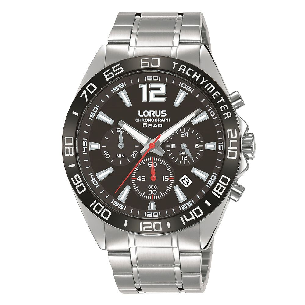 Lorus Men's Silver Stainless Steel Chrono Bracelet Watch - Product number 5378206