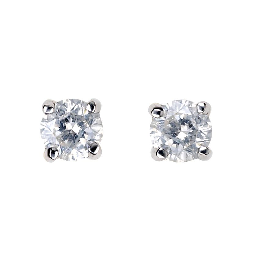 9ct White Gold 0.15ct Diamond Stud Earrings - Product number 5381037