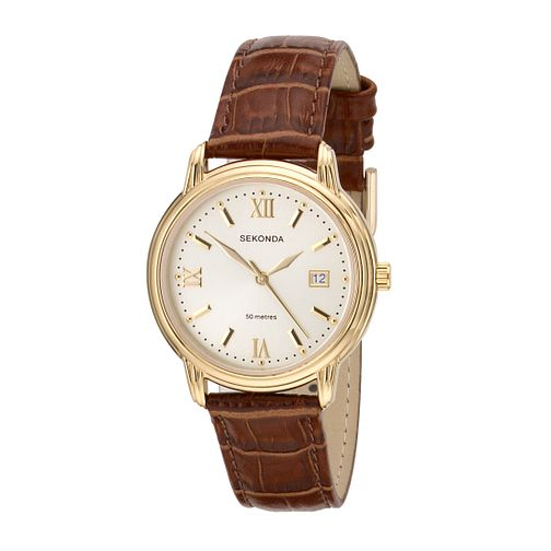 Sekonda Men's Round Dial Leather Strap Watch - Product number 5381878