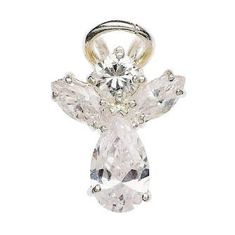 Cailin Silver Rhodium Plated Cz Angel Pendant 15 inches - Product number 5384508