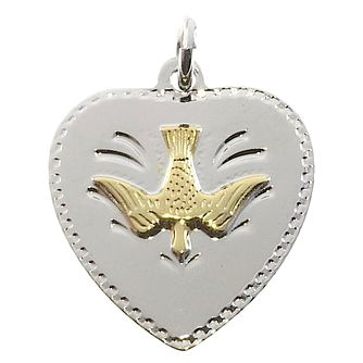 Cailin Silver Dove Heart Confirmation Pendant 18 inches - Product number 5384672