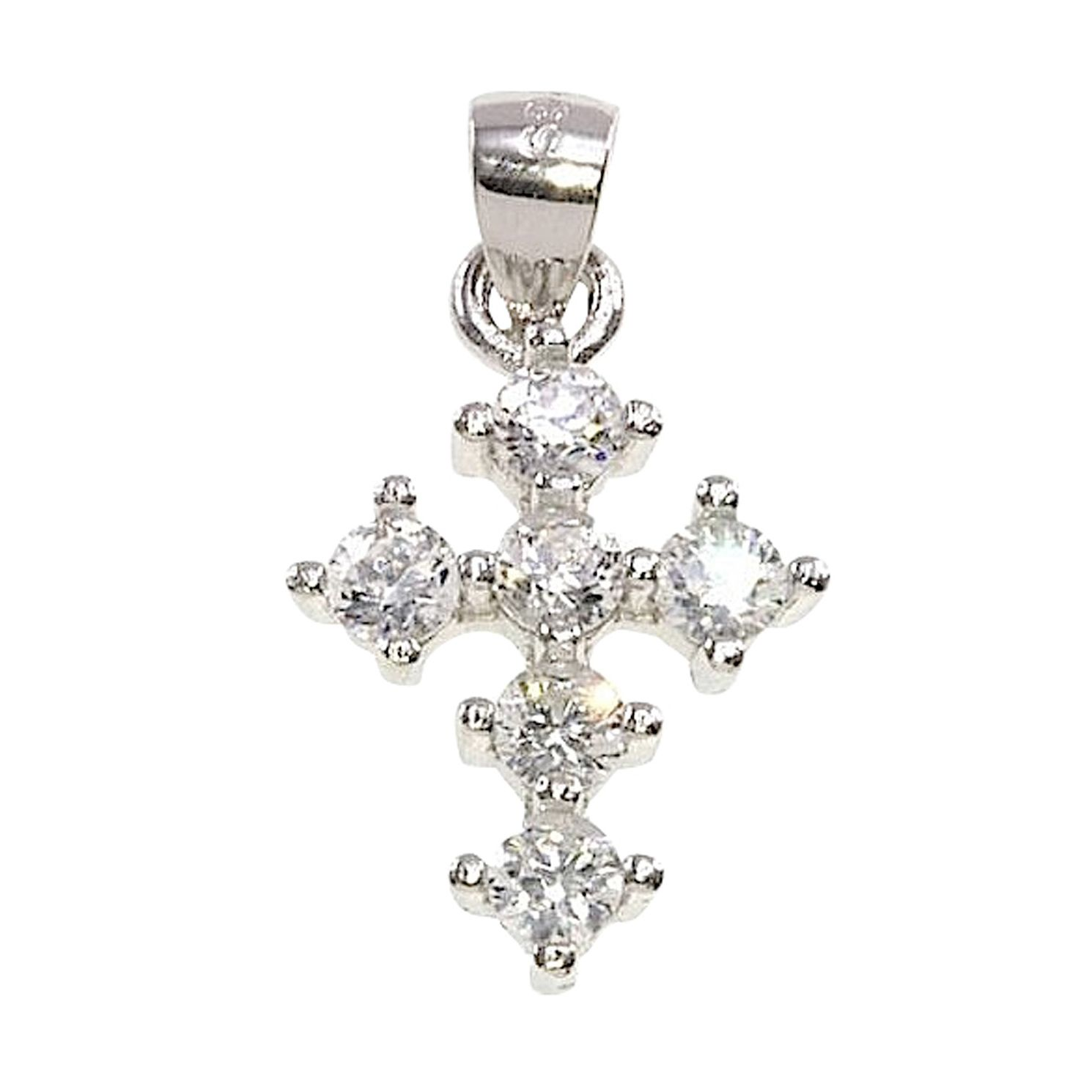 Cailin Silver Rhodium Plated Cross Pendant 15 inches - Product number 5384982
