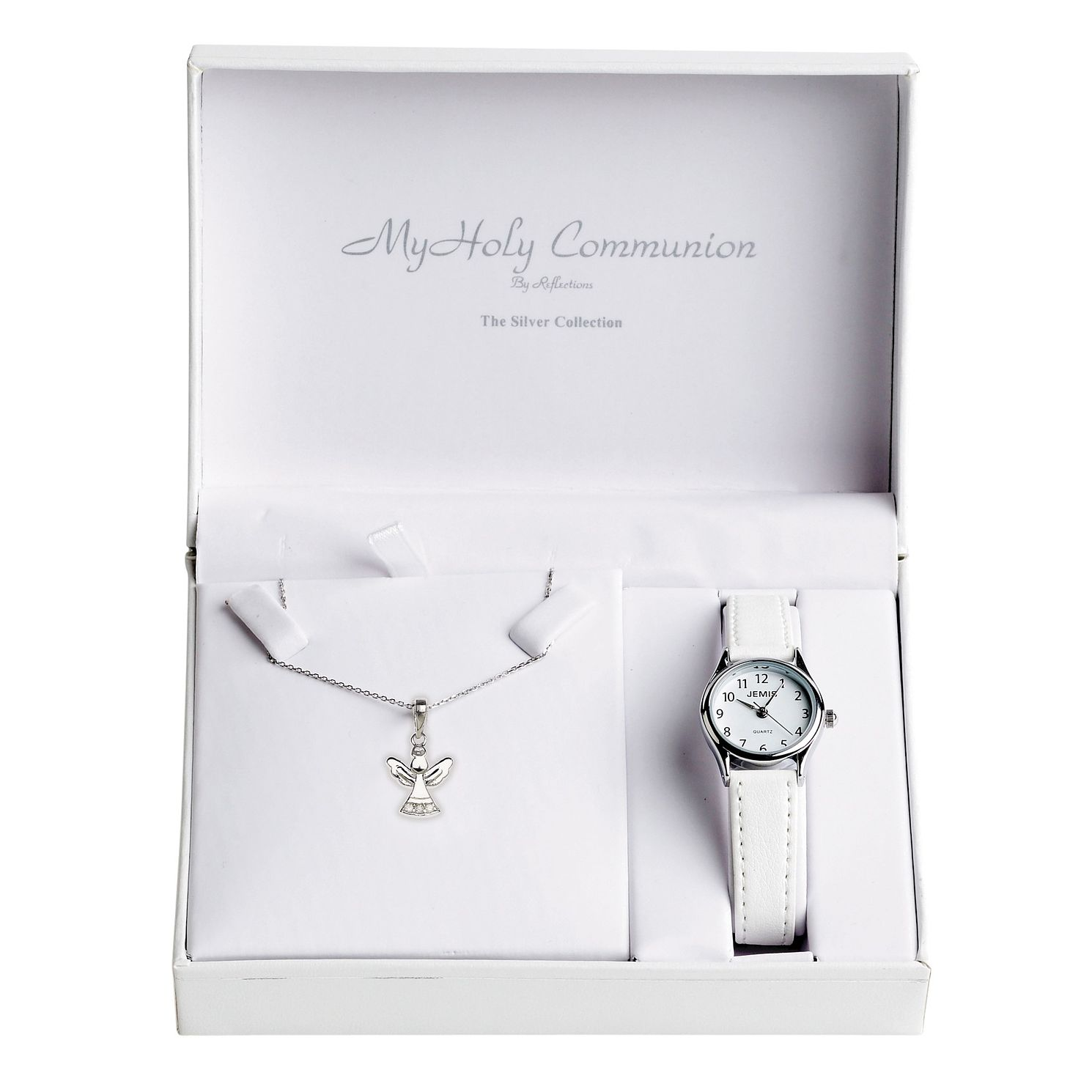 Cailin Silver Watch & Angel Pendant Set 15 inches - Product number 5385024