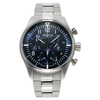 Alpina Startimer Pilot Men's Stainless Steel Bracelet Watch - Product number 5385695