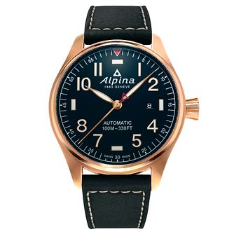 Alpina Startimer Pilot Automatic Blue Leather Strap Watch - Product number 5386187
