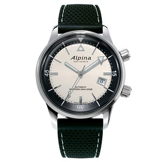 Alpina Seastrong Diver Heritage Black Rubber Strap Watch - Product number 5386217