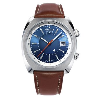 Alpina Startimer Pilot Heritage Brown Leather Strap Watch - Product number 5386225
