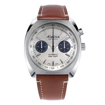 Alpina Startimer Pilot Heritage Auto Leather Strap Watch - Product number 5386462