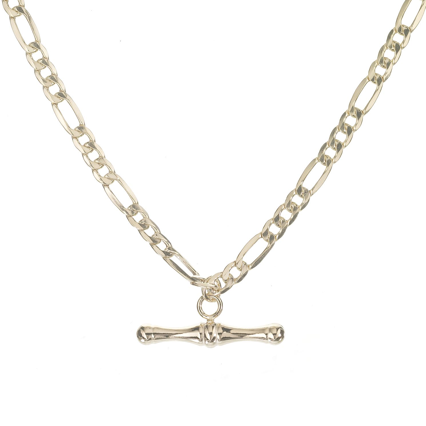 9ct Gold 18 Inch Figaro T-bar Necklace - Product number 5387795