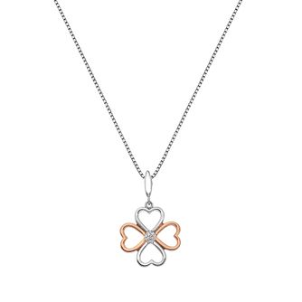 Hot Diamonds Silver & Rose Gold Tone Diamond Pendant - Product number 5391237