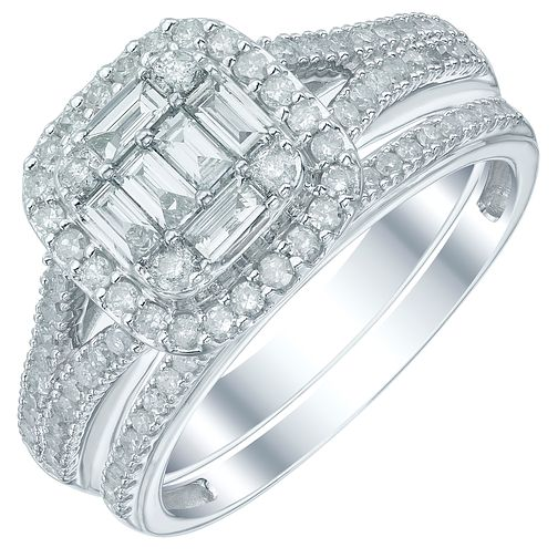 Perfect Fit 9ct White Gold 2/3 Carat Diamond Bridal Ring Set - Product number 5414164