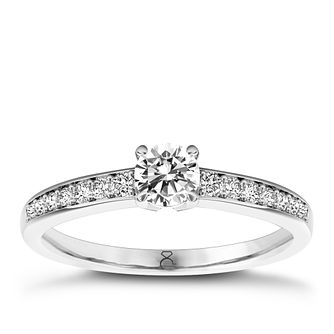 The Diamond Story 18ct White Gold 0.66ct Total Diamond Ring - Product number 5414687