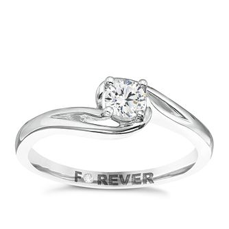 The Forever Diamond Palladium 0.25ct Ring - Product number 5421209