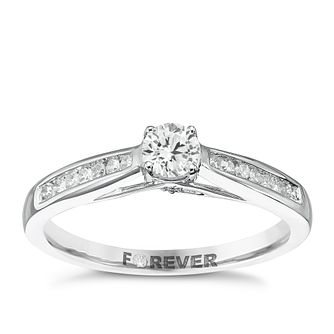 18ct White Gold 1/4 Carat Forever Diamond Ring - Product number 5422329