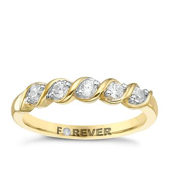 18ct Gold 1/4 Carat Forever Diamond Ring - Product number 5423465